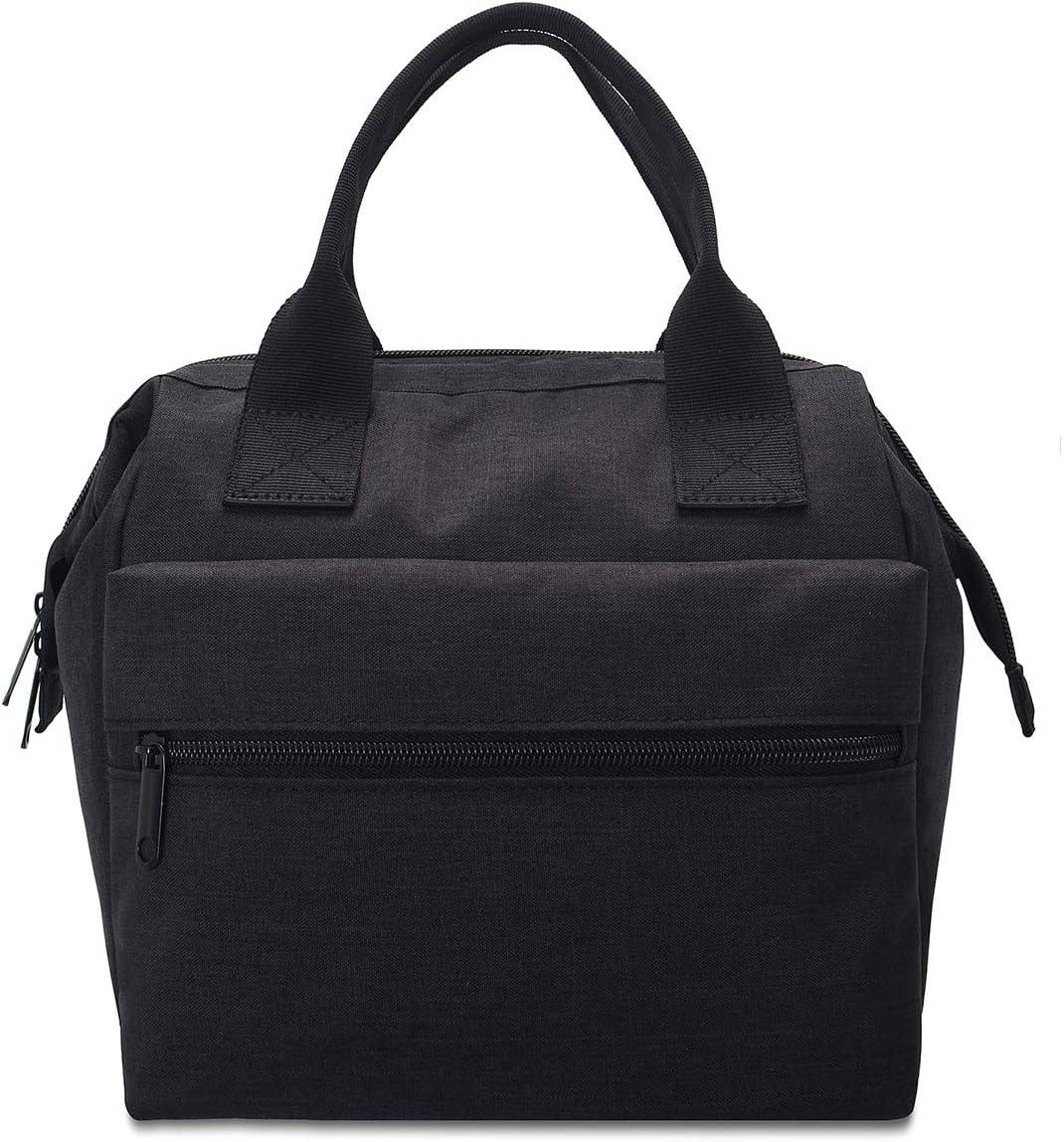 Fawziya 7L Lunch Bag For Men Women And Kids-Black