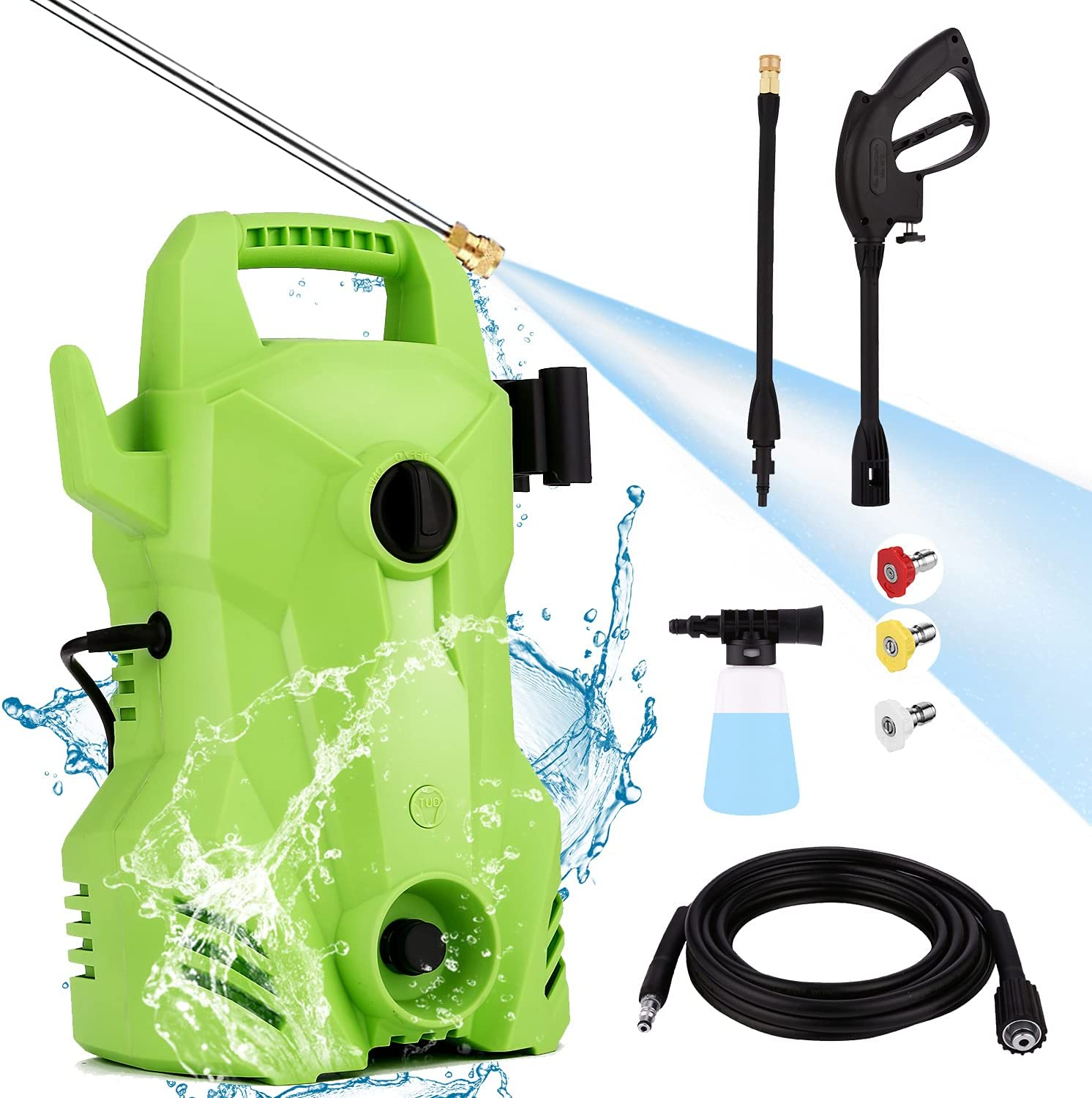 Homdox 2200PSI Pressure Washer with Great interest 1400W Sales Power Portable