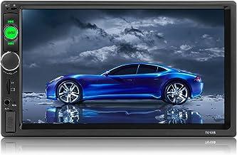 MiCarBa Bluetooth Car Stereo 7 Pulgadas HD Pantalla táctil 2 DIN In-Dash MP5 Reproductor de MP3 Audio Video Amplificador con Manos Libres/Radio FM/USB/SD/AUX/Control Remoto(CL7010B)