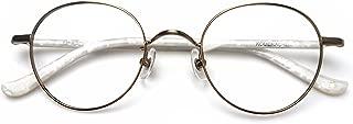Komehachi - Round Thin Full Rim Prescription Ready Clear Lens Reading Eyeglasses