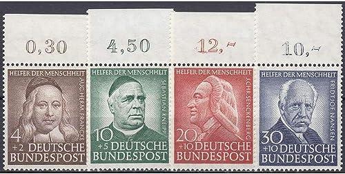Goldhahn BRD Bund Nr. 173-176 postfrisch  Wohlfahrt 1953  Oberrandsatz Briefmarken für Sammler