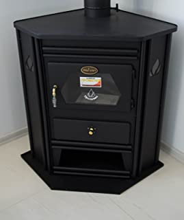 Estufa de leña chimenea de esquina modelo Solid Fuel Log