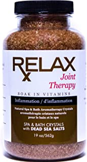 Joint Therapy Bath Crystals -19 Oz- Therapeutic Natural Salts & Minerals to Relax Aches, Pains, Inflammation for Hot Tub