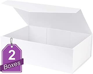 White Hard Gift Box with Magnetic Closure Lid 14