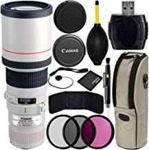 Canon EF 400mm f/5.6L USM Lens Bundle with Manufacturer Accessories & Accessory Kit for EOS 7D Mark II, 7D, 80D, 70D, 60D, 50D, 40D, 30D, 20D, Rebel T6s, T6i, T5i, T4i, SL1, T3i, T6, T5