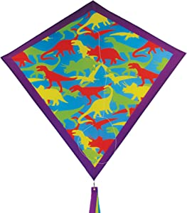 "In the Breeze 3267 - Dino Camo 30"" Diamond Kite - Fun, Easy Flying Camo Kite"