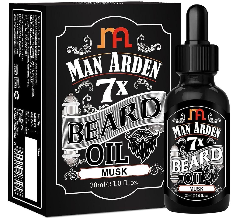 ベーコン快適アルカイックMan Arden 7X Beard Oil 30ml (Musk) - 7 Premium Oils Blend For Beard Growth & Nourishment