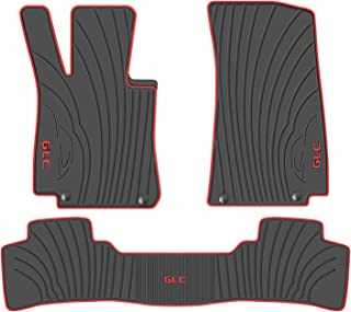 San Auto Car Floor Mat for Mercedes-Benz GLC 2016-2017-2018-2019 Custom Fit Black/Red,Rubber Auto Floor Mats All Weather, Heavy Duty & Odorless