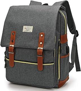 Modoker Upgraded Vintage Laptop Backpack for Women Men,School College Backpack with USB Charging Port Fashion Backpack Com...