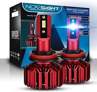 NOVSIGHT H11(H8/H9) 10000LM LED Headlight Bulbs Conversion Kit.Low Beam Headlamp, Fog Driving Light, HID or Halogen HeadLight Replacement,6000K Xenon White.1 Pair- 2 Year Warranty