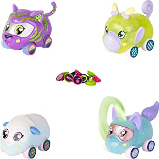 Ritzy Rollerz Toy Cars for Girls with Surprise Charms, 4Ever Friends, Four Cute Cars with Unique Fashion Finishes, 4 Pack