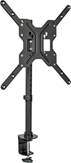 VIVO Black Ultra Wide Screen TV Desk Mount for up to 55 inch Screens | Full Motion Height Adjustable Single Television Stand (STAND-V155C)