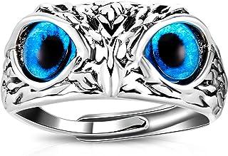 Demon Eye Owl Ring Retro Animal Open Ring Adjustable Owl Ring Open Animal Rings Statement Ring Jewelry for Women Girls Men...
