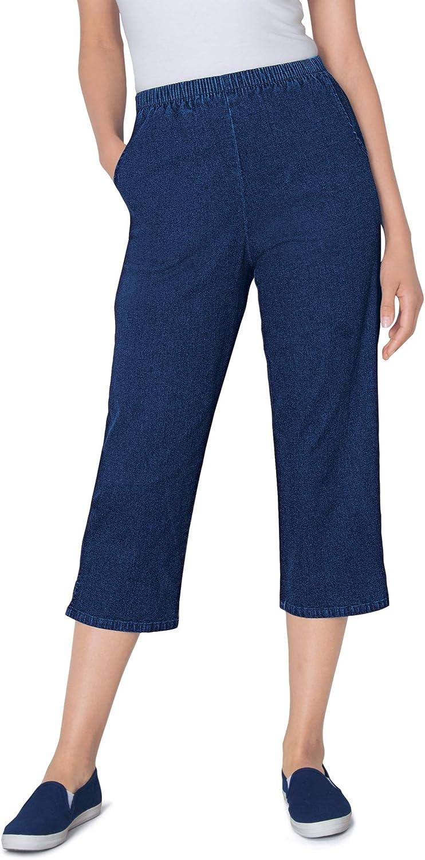 Woman Within Women's Plus Size Capri Fineline Jean
