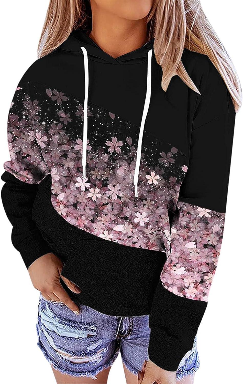 Sweatshirts for Women,Women's Fashion Loose Printed Long Sleeve Hoodies Hooded Sweatshirts Pullover Tops