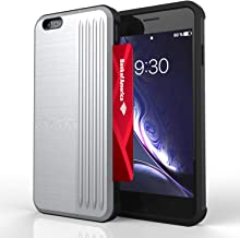 iPhone 6 Plus Case | iPhone 6S Plus Case | Phone Wallet Case with Card Holder Slot | Kick Stand | Military Grade | 10ft. Drop Tested Shockproof Case for Women & Men | for iPhone 6/6S Plus - Silver