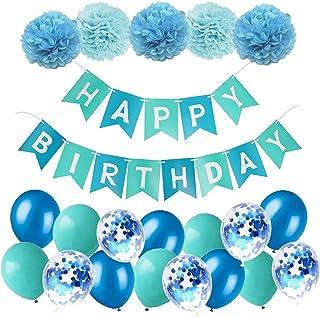 "Deco Anniversaire 1 an Garçon /""HAPPY BIRTHDAY/"" Banderole Joyeux Anniversaire Enfant Guirlande Anniversaire 1 an Banderole Anniversaire Fille Guirlande Joyeux Anniversaire Bleu Rouge Jaune Vert"