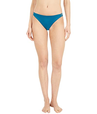 Roxy Solid Beach Classics Fashion Full Bikini Bottoms (Ink Blue) Women