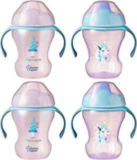 Tommee Tippee Trainer Sippee Baby Cup, Girl, 8 ounce, 4 count