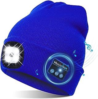 TAGVO USB led-muts met bluetooth 5.0 muts, geïntegreerde stereoluidspreker & microfoon, warm gebreide verlichting, draadlo...