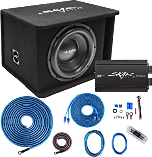 """$369 » Skar Audio Single 12"""" Complete 1,200 Watt SDR Series Subwoofer Bass Package - Includes Loaded Enclosure with Amplifier"""