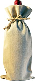 Bulk Blank Wine Bags for Heat Transfer Vinyl 10-Pack Reusable Customizable for Crafts Gifts Wedding Event Swag Linen with Jute Drawstrings