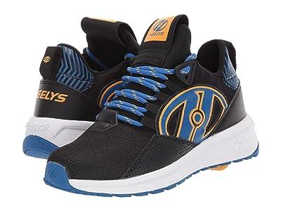 Heelys Bandit (Little Kid/Big Kid/Adult) (Black/Blue/Saffron) Boys Shoes