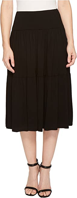 Refined Jersey Tiered Midi Skirt