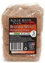 Rogue River Tools Bronze Wool Pads - Medium (3)