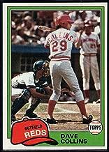 Baseball MLB 1981 Topps #175 Dave Collins Reds