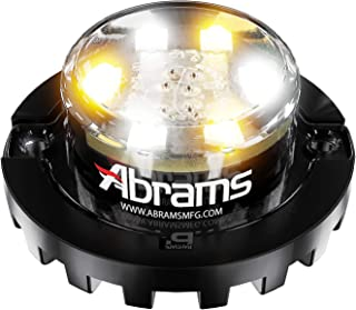 Abrams Blaster Emergency Vehicle LED Hideaway/Surface Mount Strobe Warning Light - Amber/White