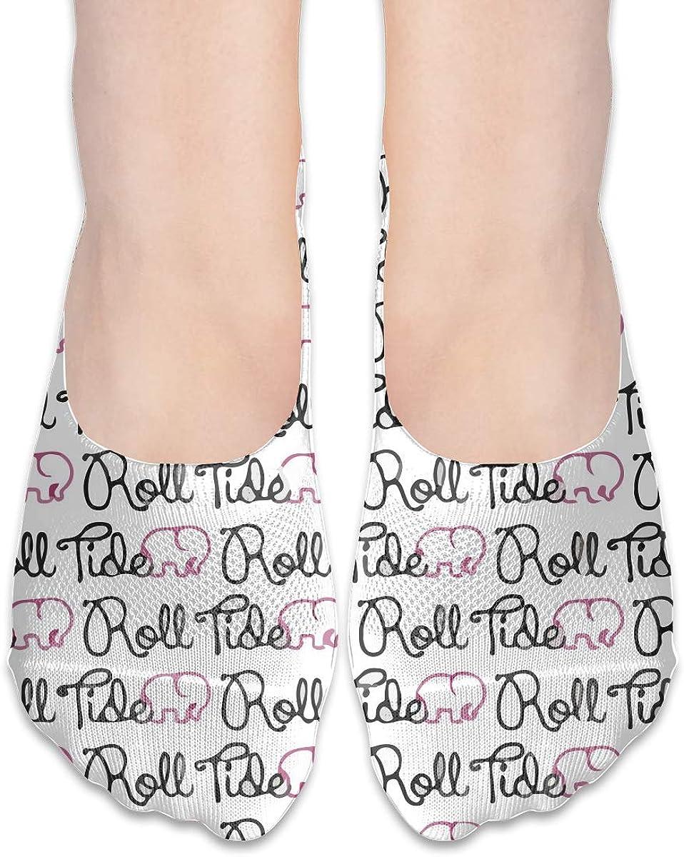 No Show Socks Women Men For Alabama Roll Tide Flats Cotton Ultra Low Cut Liner Socks Non Slip