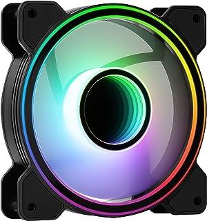 AeroCool MIRAGE12, Ventilateur PC 120mm, Infinity Mirror RGB, 6-Pin, Silencieux