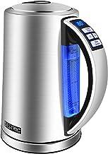 Electric Kettle Temperature Control, DESTRIC 1.7Liter Electric Tea Kettle with Keep Warm Function, 5 LED Color Change, Aut...