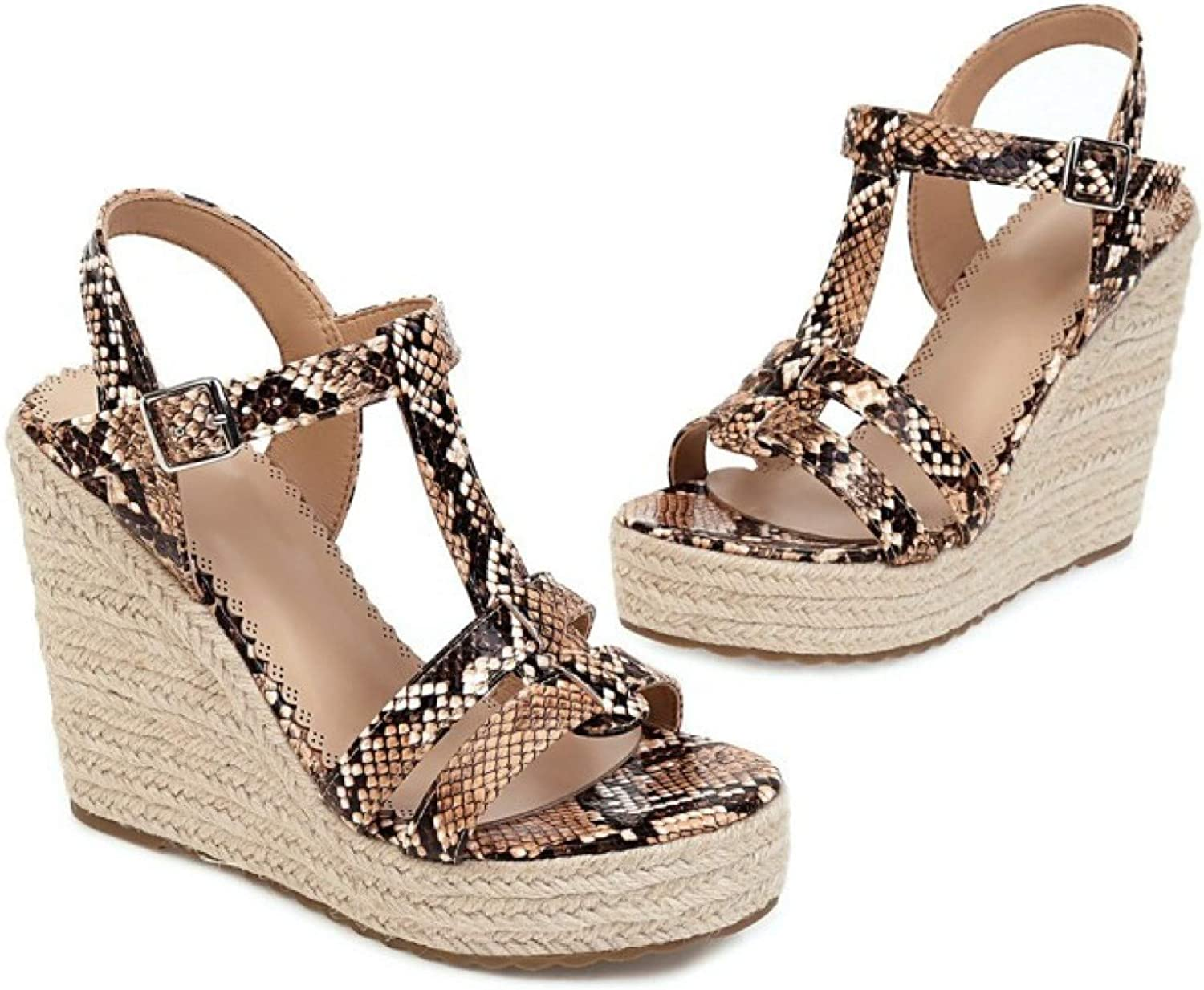 Women Fashion Beach Popular brand in the world Ankle strappy Toe Sho Wedges Ranking TOP14 Open Espadrille