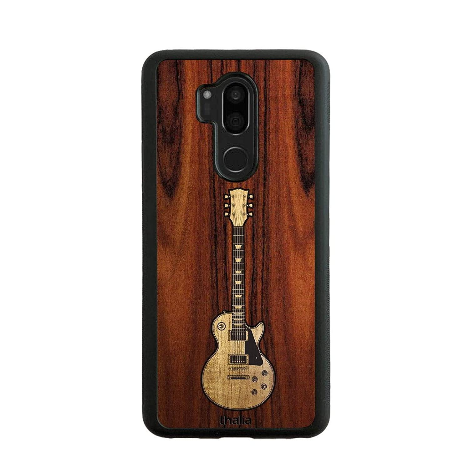 Santos Rosewood & Les Paul Hawaiian Koa Inlaid Guitar Phone Case   Thalia Exotic Wood Cases LG G7