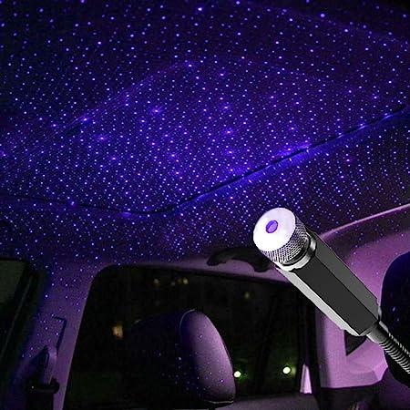 FOONEE Auto Ambient Star Light Blu//Senza Controllo Car Light Projector USB 100mw LED Decorative Bracciolo Box Star Romantic Auto Roof Projection per Auto//Home//Party