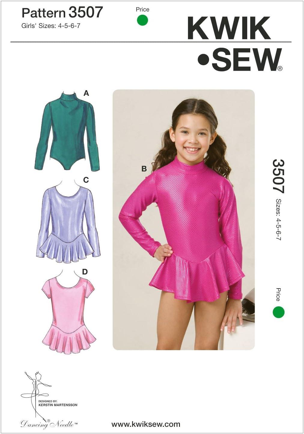 Kwik Sew K3507 Leotards Sewing Pattern, Size 4-5-6-7