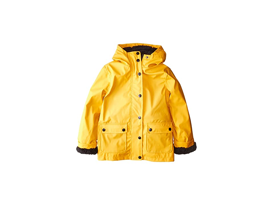 Urban Republic Kids Khloe Raincoat w/ Faux Fur Lining (Little Kids/Big Kids) (Yellow) Girl