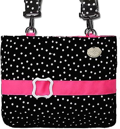 96b2122e8d7 Jet Black Polka Dot Pink Trimmed Waterproof Demi-Premier Bag - 13