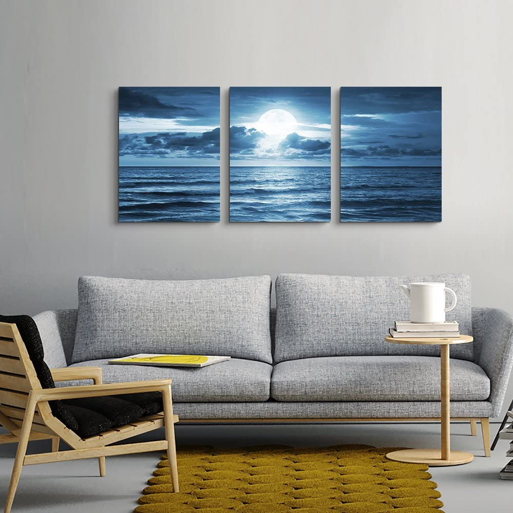 Buy 20 Piece Canvas Wall Art for living room   blue sea view The ...