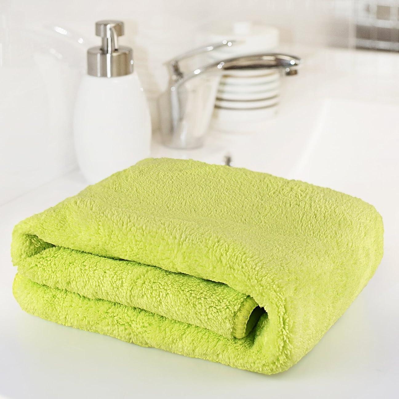ではごきげんよう君主制名門バスタオル、面ハンドタオルスーパー吸収性クリアランスPrime Ultraソフト滑らかさコットンWashcloth軽量Fast Dry丈夫洗濯Faceclothシャワータオルスポーツジムのシャワーバスルーム グリーン QLSTZPINK01