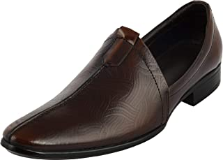 STYLIANO Brown Slip On Shoes for Men
