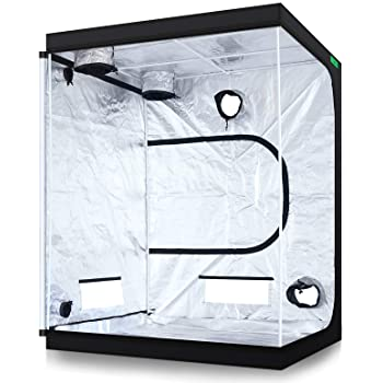"""VIPARSPECTRA 60""""x60""""x80"""" Reflective 600D Mylar Hydroponic 5'x5' Grow Tent for Indoor Plant Growing"""