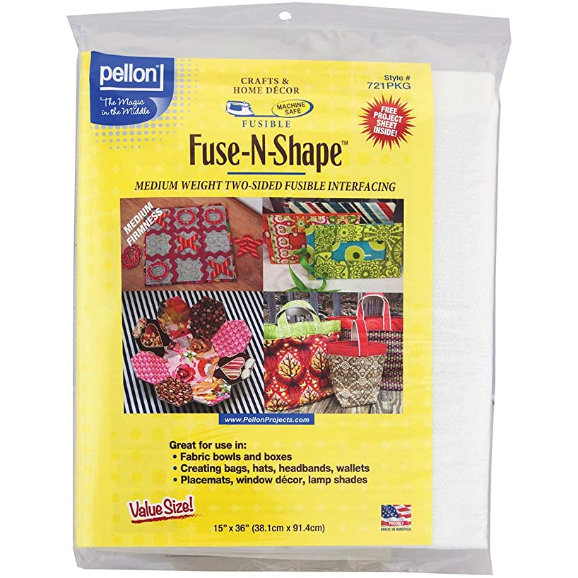 Pellon 721PKG Fuse-N-Shape Medium Weight Fusible Interfacing, 15