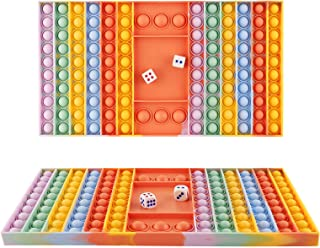 1030design Pop Fidget Gmae Toy,Big Fidget Popper Games Push Bubble Chess Board Sensory Silicone Fidget Pop Game Stress Rel...