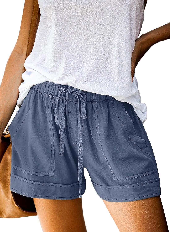 AROGONE Many popular brands Womens security Comfy Drawstring Elastic Loose Shorts Linen Waist