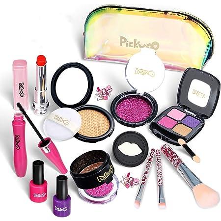 Coffret De Maquillage De Princesse De Cosm/étiques Pour Enfants Kit De Maquillage Maquillage Enfant Jouet Fille Ensemble De Maquillage Lavable Non Toxique Princesse Jouet Fille 3 4 5 6 7 8 An