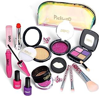 Jannyshop Pretend Makeup Essential Set Kit de Maquillage pour Fille r/éelle Lavable et Non Toxique