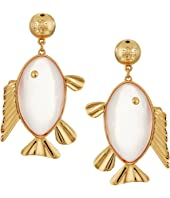 Tory Burch - Fish Pendant Earrings